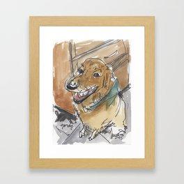 Gordy the Golden Retriever Framed Art Print