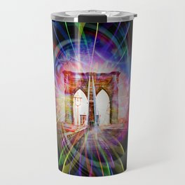 Abstract perfektion - Brooklyn Bridge Travel Mug