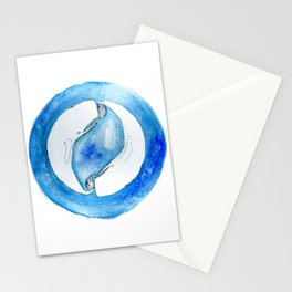 The circle of the whales Stationery Cards