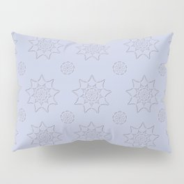 3D Texture Light Purple - Pointilist Mandala Art Pillow Sham