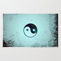 yin yang Area & Throw Rugs featuring Yin & Yang by Mr and Mrs Quirynen