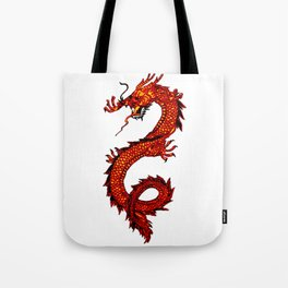 Mythical Red Dragon Tote Bag