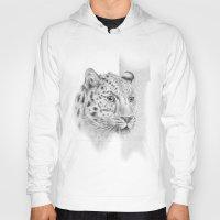 leopard Hoodies featuring Leopard by Anna Tromop Illustration