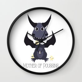 Mother of Poussins Wall Clock