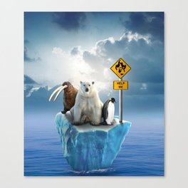 Animals in danger Canvas Print