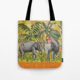HAA-0232 Elephants Nursery Tote Bag