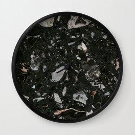 Stone Black Marble Wall Clock