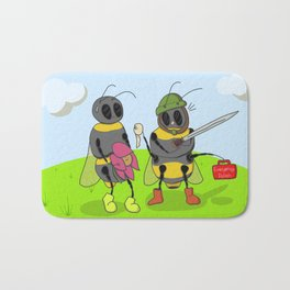 Bees At War Bath Mat