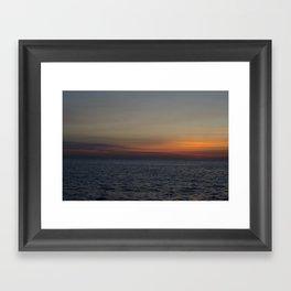 Sunrise over Lake Michigan Framed Art Print