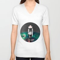 alone V-neck T-shirts featuring Alone by Cs025