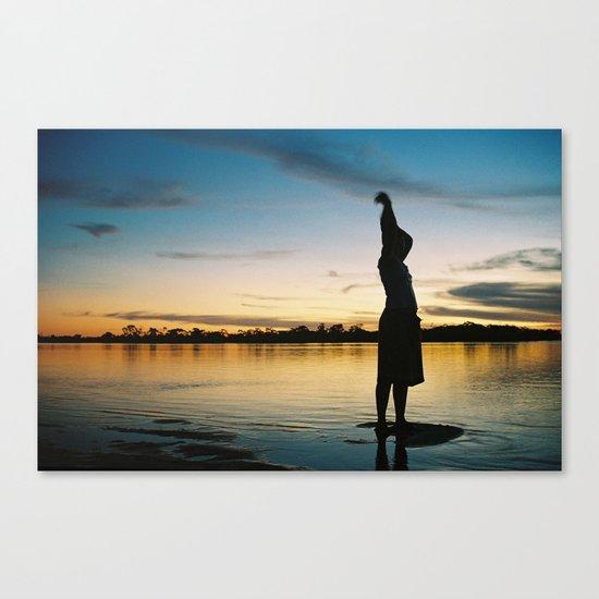 Female Body in the Amazon River Canvas Print