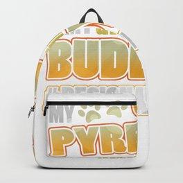 Great Pyrenees Drinking Buddy Hashtag Designated Doggo Backpack