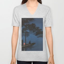 TIR-FA - Japan Print - Shubi pine at Night Unisex V-Neck