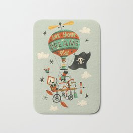 Make Your Dreams Fly Bath Mat