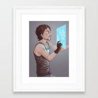 tony stark Framed Art Prints featuring Tony Stark by MaliceZ