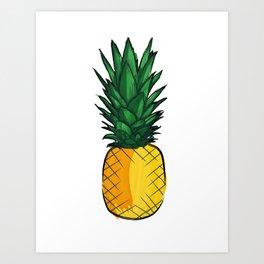 Louder Than Words – Pineapple! Art Print