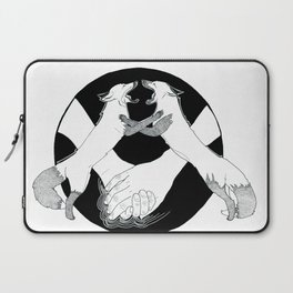 Friendship and enmity - Ink artwork Laptop Sleeve