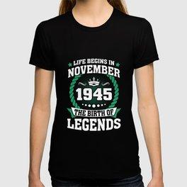 November 1945 The Birth Of Legends T-shirt