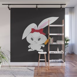 Bad Hare Day Wall Mural
