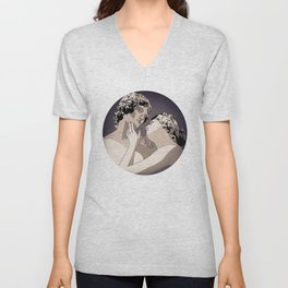We threw our hearts into the sea Unisex V-Neck