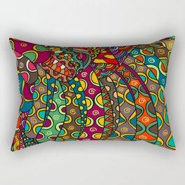 African Style No13, Tribal dance Rectangular Pillow