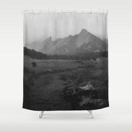 Moody Flatirons Shower Curtain