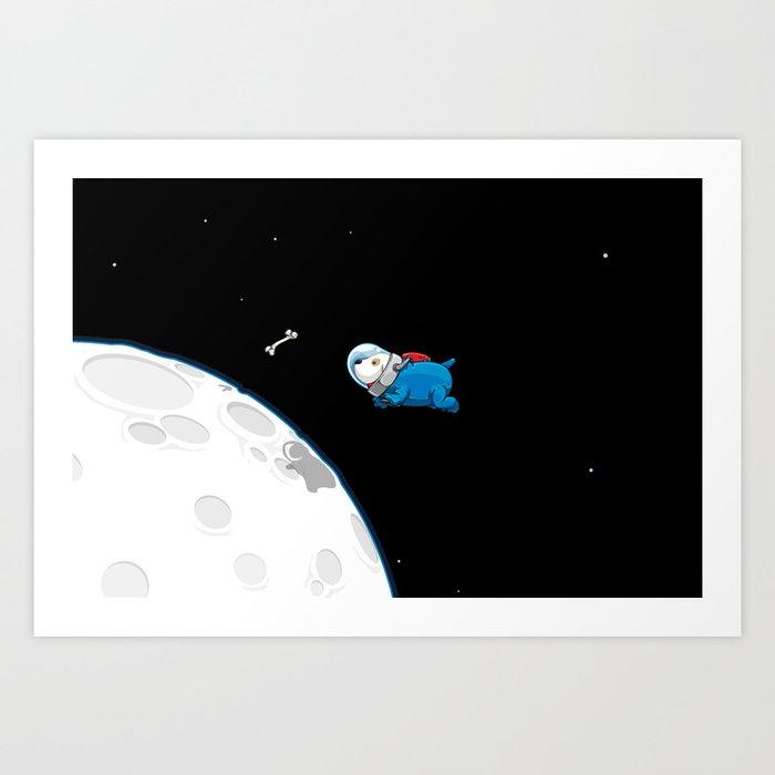 Spacedoggy Art Print