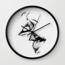 Universe kiss. Wall Clock