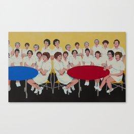 """Durrett High School Cafeteria Staff, Louisville, KY, 1979"" Canvas Print"