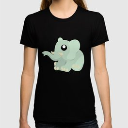 Elephant Sitting Left View T-shirt