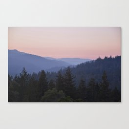 Sunset in the Santa Cruz Mountains Canvas Print
