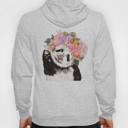 Baby Panda with Flowers Crown Hoody