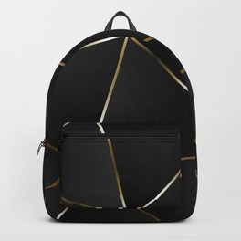 Triangles with golden threads Backpack
