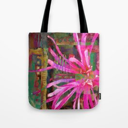 Electric Floral Burst Tote Bag