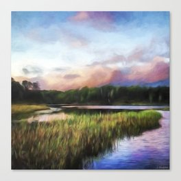 End Of The Day - Landscape Art Canvas Print