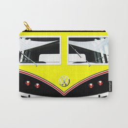 Yellow Art Cute minibus Carry-All Pouch