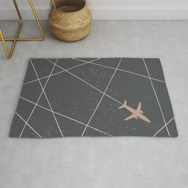 The Jet Set - Charcoal Rug