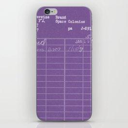 Library Card 797 Negative Purple iPhone Skin