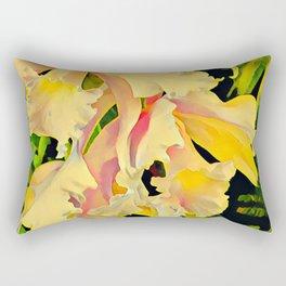 Two Cattleya Orchids Aloha Rectangular Pillow