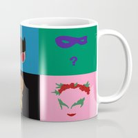 gotham Mugs featuring Gotham Villains by Whimsy Notions Designs