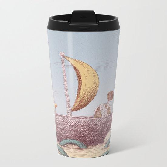 Drummer Bird - Sailing Metal Travel Mug