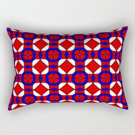 Red White and Blue Rectangular Pillow