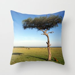 The Leopard In The Mara Throw Pillow