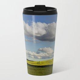 Spring Landscape with wonderful clouds Travel Mug