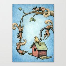 Ninja Squirrels Canvas Print
