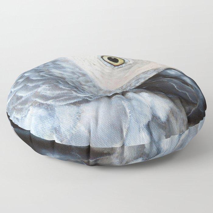 African Grey Parrot Floor Pillow
