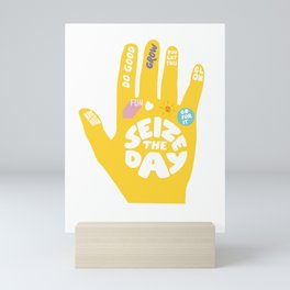 Seize the day – Sunshine hand Mini Art Print