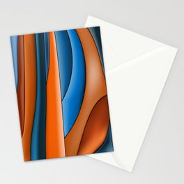 Lines Of Stained Glass Stationery Cards