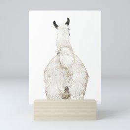 Llama Butt Mini Art Print