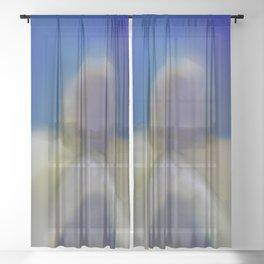 Sorrowful abstract Sheer Curtain
